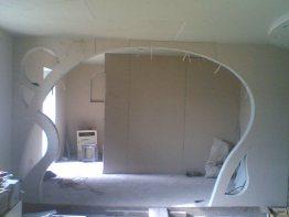 Стена из гипрока  дверной проем